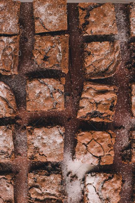 Brownies with sugar sprinkled on top