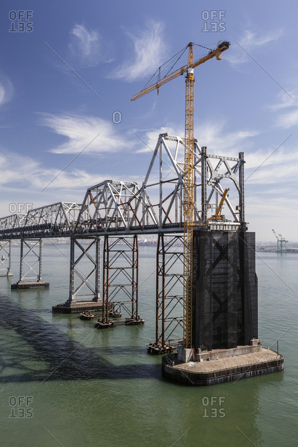 Bridge under construction in Oakland, California