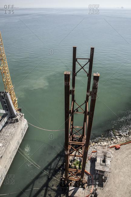 Bridge under construction in California
