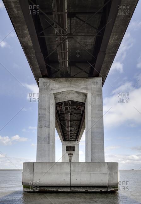 Underside of bridge, Oakland, California