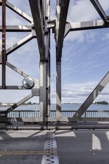 Trusses on bridge in California