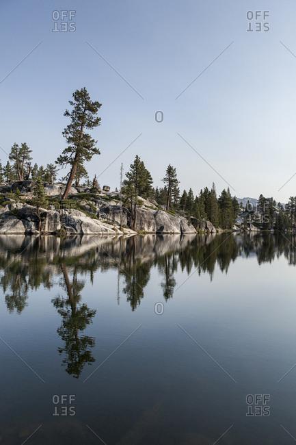 Still lake in Yosemite National Park