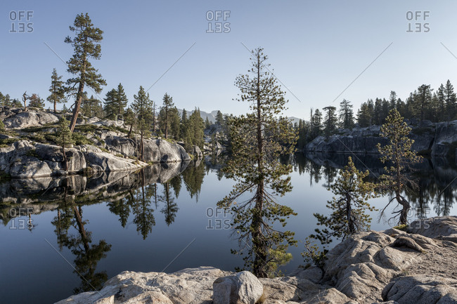 Still lake at Yosemite National Park