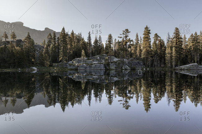 Reflection in lake, Yosemite National Park