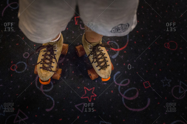 Roller skates at a roller rink
