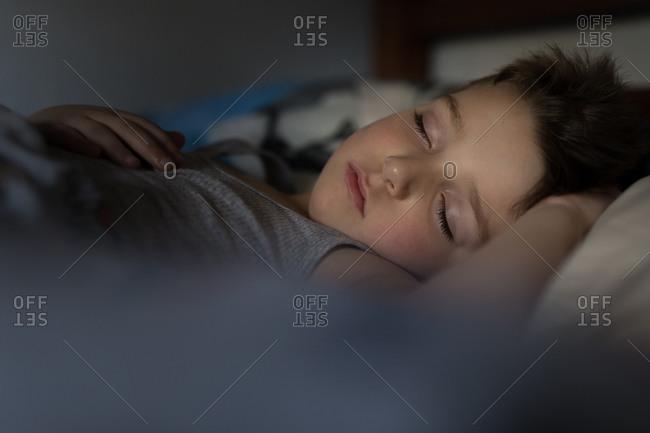 Boy fast asleep