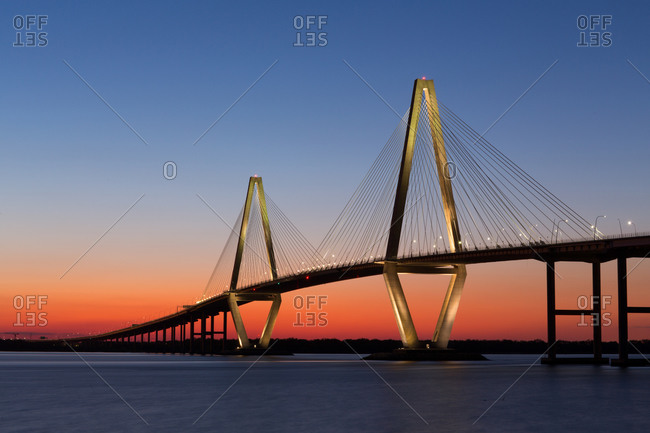 Bridge at sunset, Charleston, South Carolina