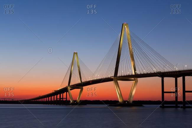 Bridge at sunset, Charleston, South Carolina