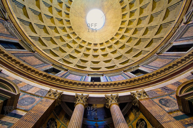 Ceiling of the Pantheon, Rome, Italy