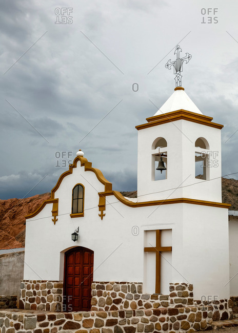 Church in Valles Calchaquies between Cafayate and Cachi in Salta Province, Argentina
