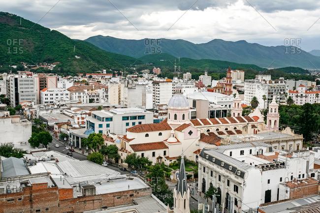 Cityscape of Salta city, Argentina
