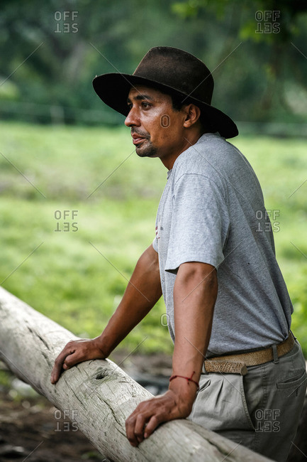 Salta Province, Argentina - January 6, 2012: Portrait of a gaucho at an estancia near Guemes