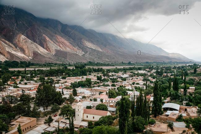 Maimara and Paleta del Pintor mountains in Quebrada de Humahuaca, Jujuy Province, Argentina