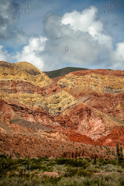 Colorful mountains in Quebrada de Humahuaca, Jujuy Province, Argentina