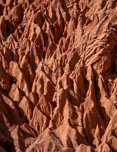 Camino de los Colorados trail landscape near Purmamarca, Quebrada de Humahuaca, Jujuy Province, Argentina