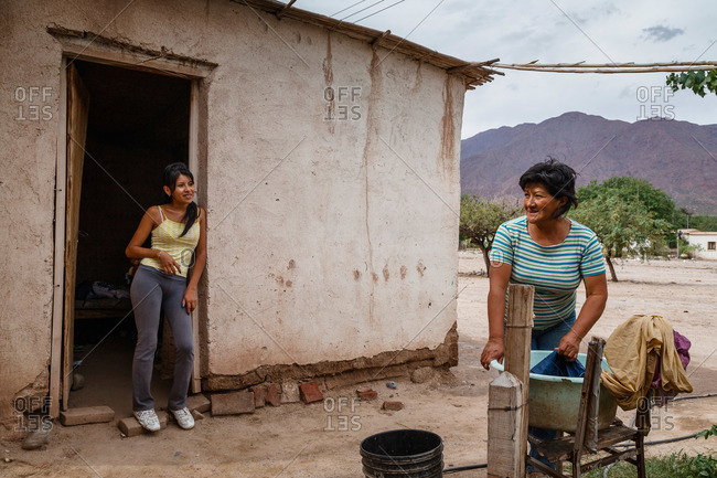 Salta Province, Argentina - January 3, 2012: Daily life in Valles Calchaquies between Cafayate and Cachi