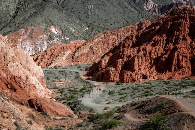 Camino de los Colorados trail around Purmamarca, Quebrada de Humahuaca, Jujuy Province, Argentina