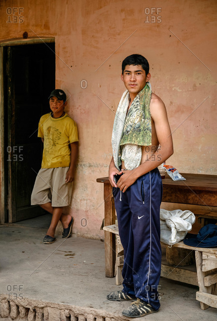 Salta Province, Argentina - January 3, 2012: People in Valles Calchaquies between Cafayate and Cachi