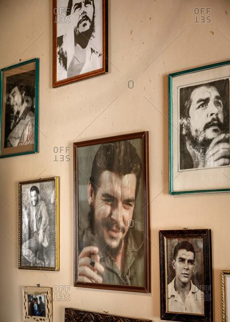Humahuaca, Quebrada de Humahuaca, Jujuy Province, Argentina - January 7, 2012: Pictures of Che Guevara at Mikunayok restaurant