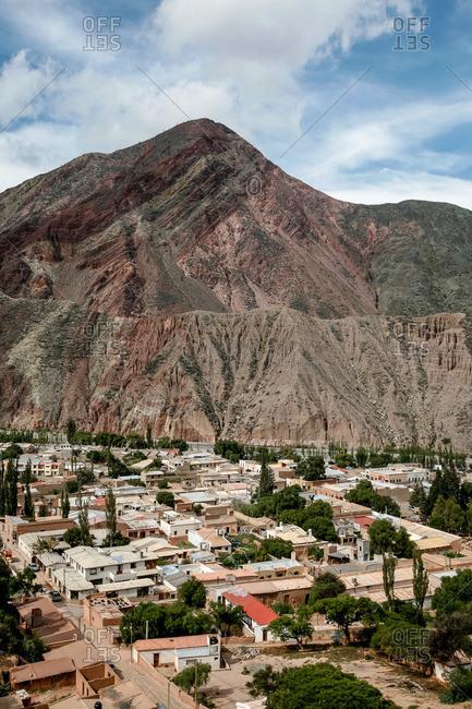 Purmamarca from the Camino de los Colorados trail in Quebrada de Humahuaca, Jujuy Province, Argentina
