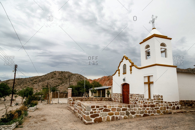 Valles Calchaquies church between Cafayate and Cachi in Salta Province, Argentina