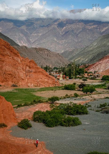 Landscape from the Camino de los Colorados trail near Purmamarca, Quebrada de Humahuaca, Jujuy Province, Argentina