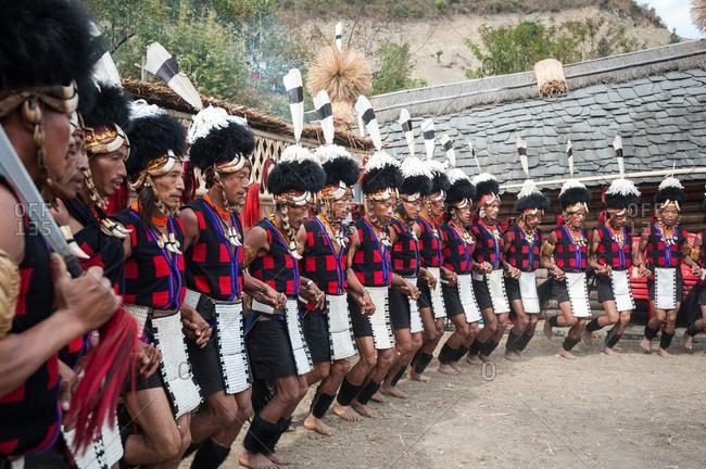 Nagaland, India - December 1, 2015: Tribal celebration in India