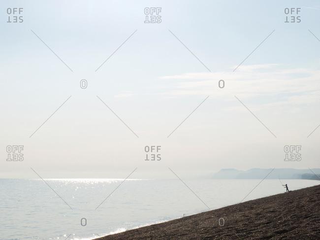 Sea fishing from beach
