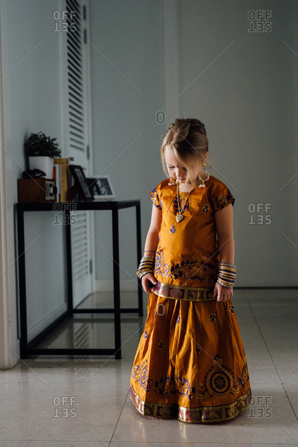 Girl in a traditional Southeast Asian dress
