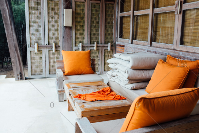 Patio furniture in the tropics