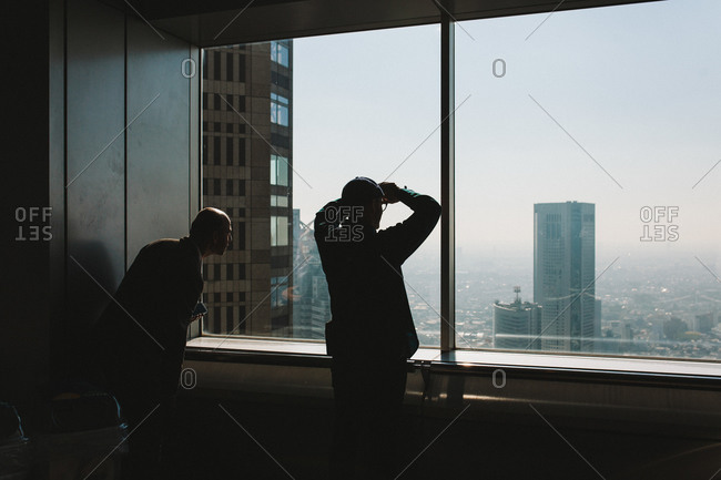 Tokyo, Japan - November 22, 2014: Looking at the view from the top floor of the Tokyo Metropolitan Government Building