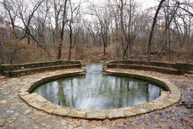 Stream fed stone pool