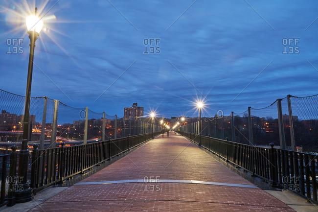 High Bridge at night in New York City