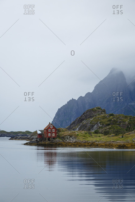 Landscape in Kabelvag, Lofoten Islands, Norway