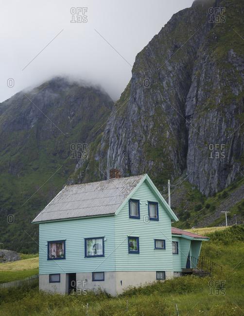 Wooden house in Lofoten Islands, Norway