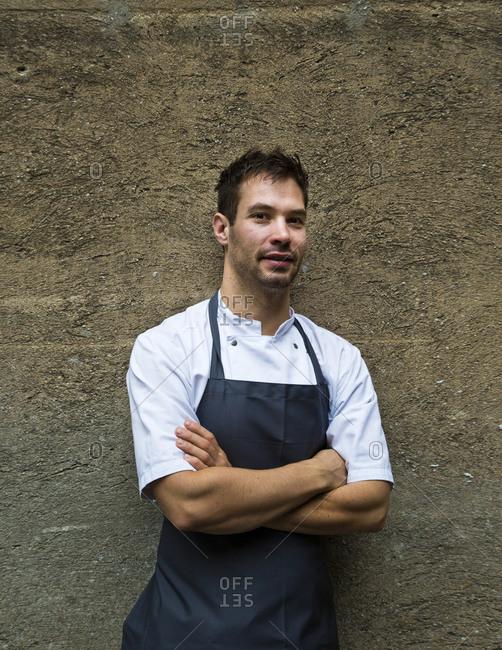 Copenhagen, Denmark - September 22, 2012: Portrait of chef Ronny Emborg, AOC Restaurant