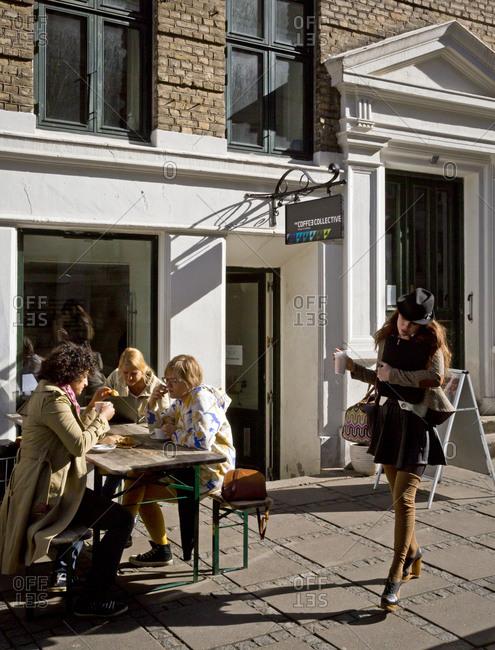 Copenhagen, Denmark - September 28, 2012: The Coffee Collective on Jaegersborggade Street