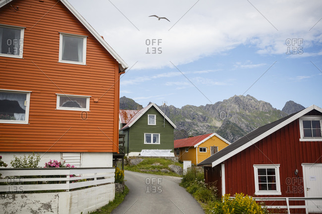 Colorful houses, Henningsvaer village, Lofoten Islands, Norway