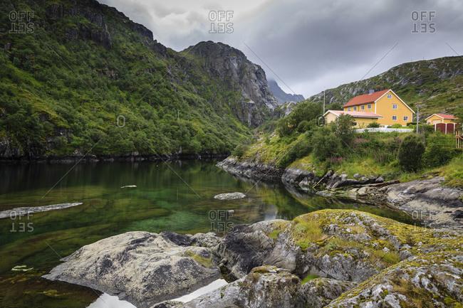 Landscape in Molnarodden near Reine, Lofoten Islands, Norway