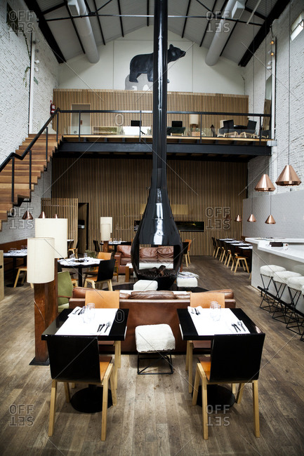 Buenos Aires, Argentina - March 10, 2012: Interior of Olsen Restaurant, Palermo Hollywood