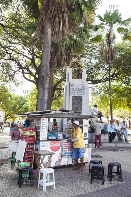 Fortaleza, Brazil - December 30, 2012: The public square of Jose de Alencar