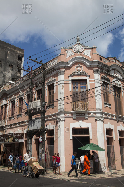 Old colonial house in downtown Fortaleza, Brazil