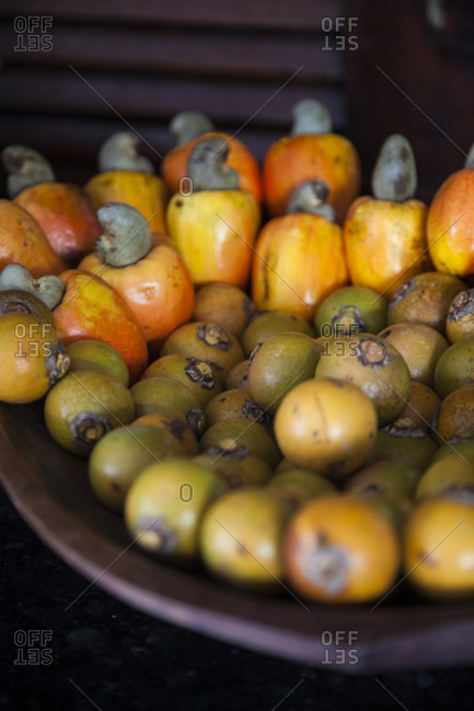 Cashew fruits in Fortaleza Brazil