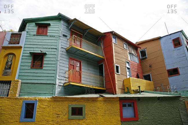 Colorful houses on Caminito area in La boca, Buenos Aires, Argentina