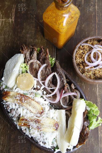 Pacoca de Pilao dish at Colher de Pau restaurant, Fortaleza Brazil