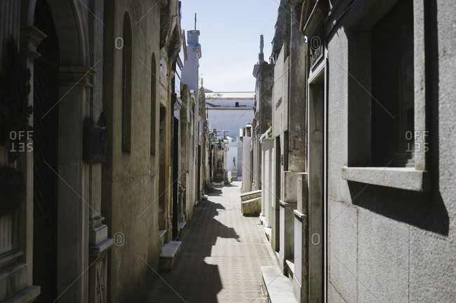 Mausoleums in La Recoleta Cemetery, Buenos Aires