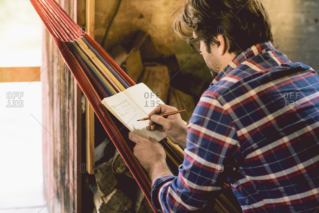 Carpenter in hammock writing plans