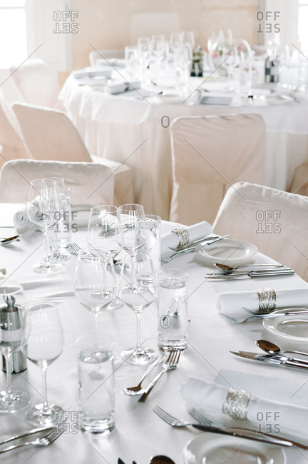 Table prepared for a formal event