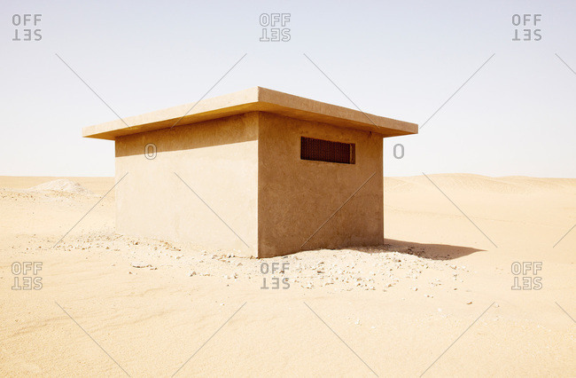 Bunker in the desert in Egypt