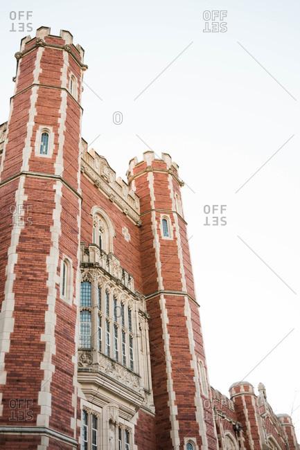 Tudor style building at the University of Oklahoma